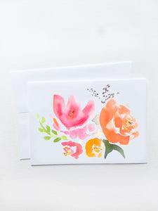 Pink and Orange Bouquet Card