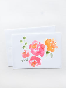 Pink Roses Bouquet Card