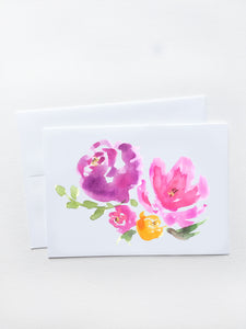 Purple Bouquet Card
