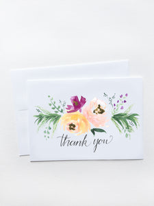 Thank you Floral Garland Card