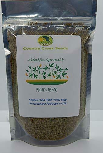 Alfalfa Seeds, Organic, Non-GMO Seed For Sprouting Microgreens - Country Creek LLC