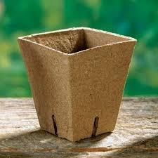 "JIFFY POT, SINGLE SQUARE, 3.5"" X 4.0"", 20 PACK, POTS, 20 CELLS, BIODEGRADABLE - Country Creek LLC"