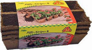 "JIFFY, STRIP, 8 CELLS, 2.5"" X 3.0"", 5 PACK, SEED POTS, GARDENING, BIODEGRADABLE - Country Creek LLC"