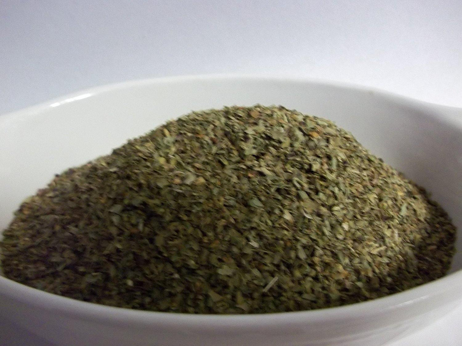 BASIL, SWEET GENOVESE, DRIED N CHOPPED, ORGANIC, SUPERIOR FLAVOR PROFILE - Country Creek LLC