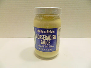 Horseradish Sauce, Sandwich Spread, Kelly Pride, Made from 100 percent fresh grated horseradish roots