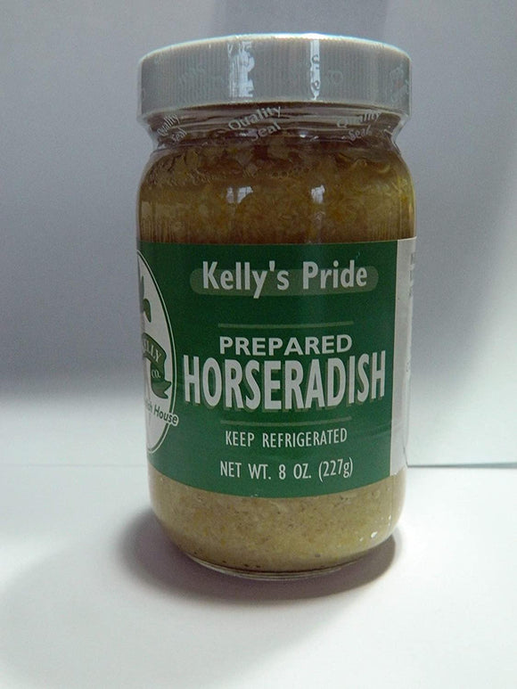 Prepared Horseradish, Kelly Pride, Made from 100 percent fresh grated horseradish roots