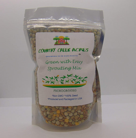 GREEN WITH ENVY MIX SEEDS FOR SPROUTING, COUNTRY CREEK LLC BRAND, MICROGREENS, ORGANIC, NON-GMO