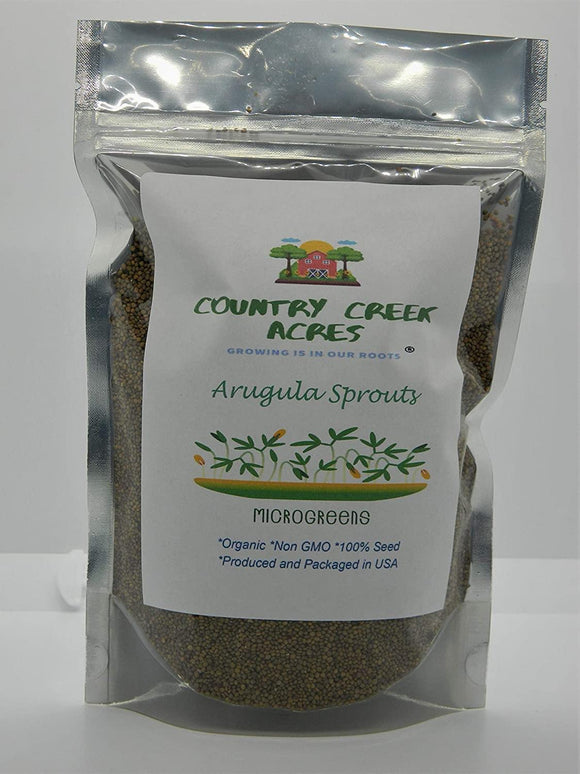Arugula- Organic- NON GMO microgreen seeds for Sprouting Sprouts - Country Creek LLC