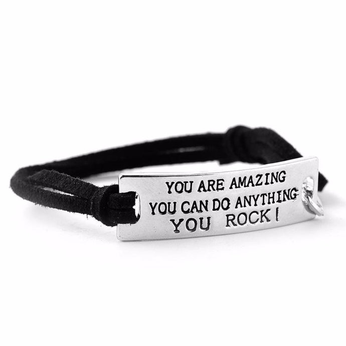 YOU ARE AMAZING, YOU CAN DO ANYTHING, YOU ROCK MOTIVATIONAL BRACELET