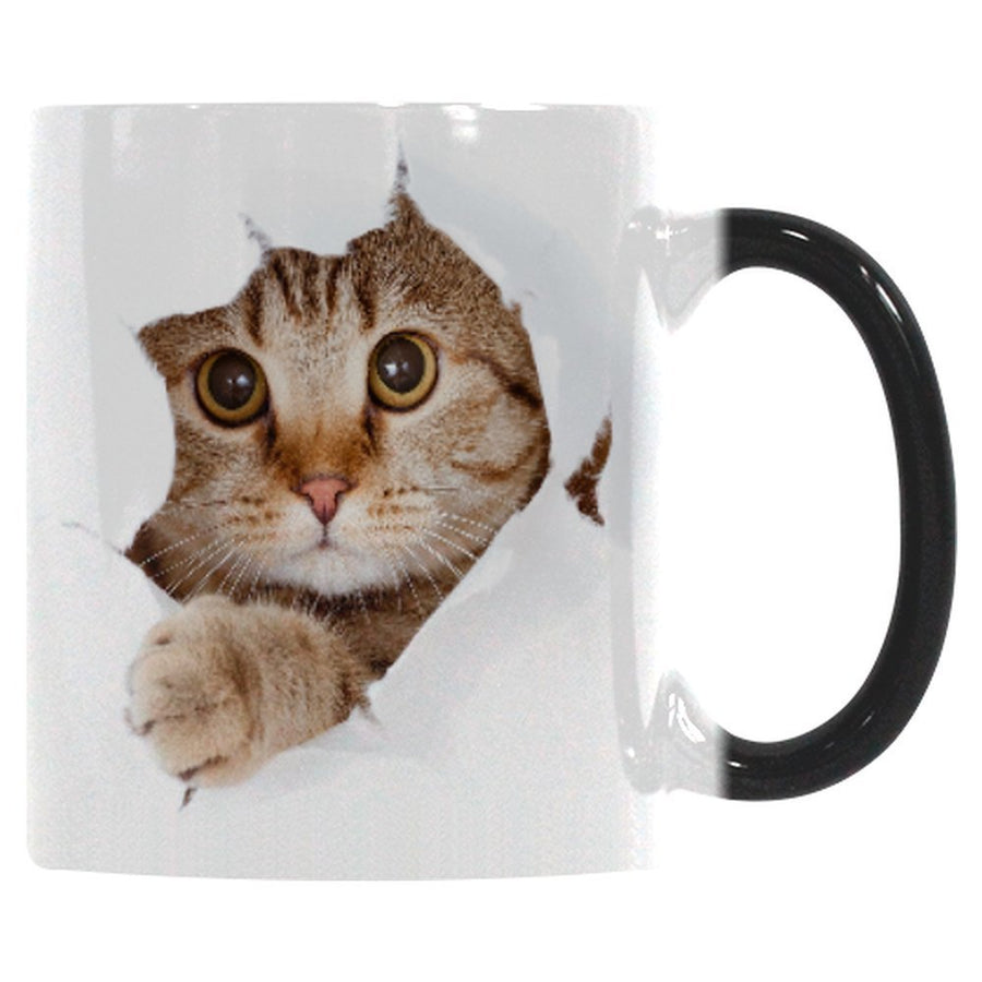COLOR CHANGING CAT MUG