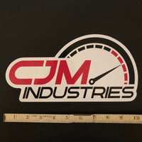 "CJM Industries XL Sticker (10""x5"")"