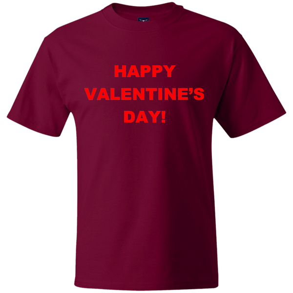 'Happy Valentine's Day', Hanes, 6.1 oz., 100% ringspun cotton