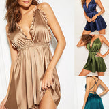 Smooth Satin V Neck Nightwear