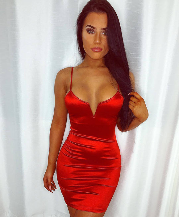 Skinny Mini Pencil Dress Summer Night Clubwear