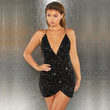 Bonnie Forest Glam Slim Sequins Bodycon Party Dress