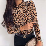 Autumn Mesh Print Top