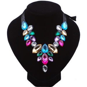Luxury Crystal Statement Necklace Chunky Chokers