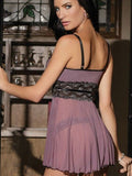 Fashion Patchwork Nightgown Lingerie