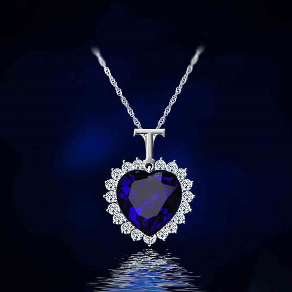 New Titanic Heart of the Ocean rhinestone Necklace