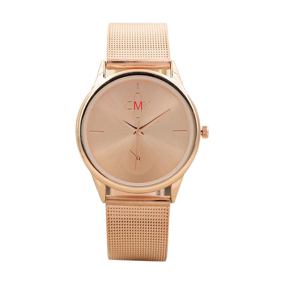 Womens Mesh Watch Classic Quartz Stainless Steel Watch