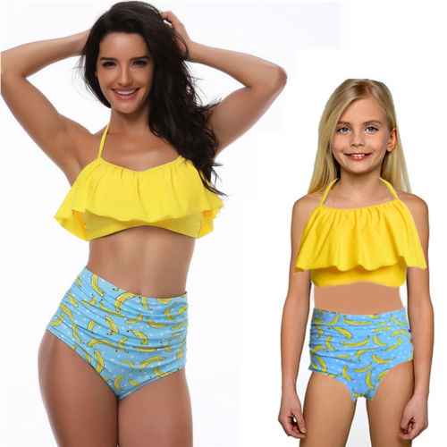 Matching Mother And Daughter Padded Swimsuits