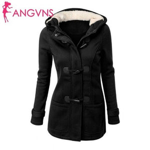 Coat Jacket Autumn Long Trench Horn Button Overcoat