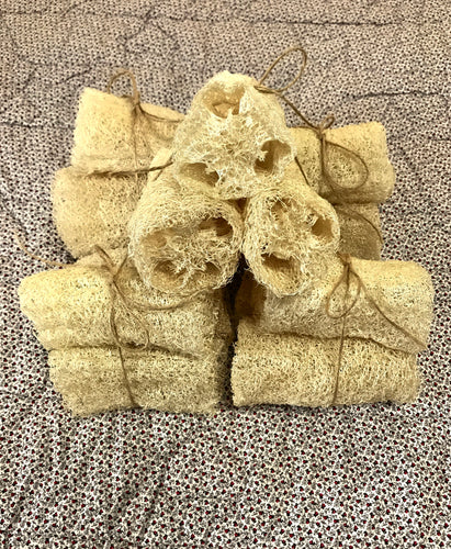 BATH:  UNBLEACHED LUFFA SPONGES--2 Options