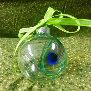 "2.5"" PEACOCK FEATHER ORNAMENT"