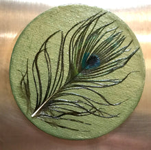 CANVAS PEACOCK MAGNETS