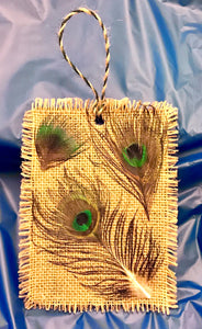 RUSTIC PEACOCK ORNAMENT (2 Sizes)