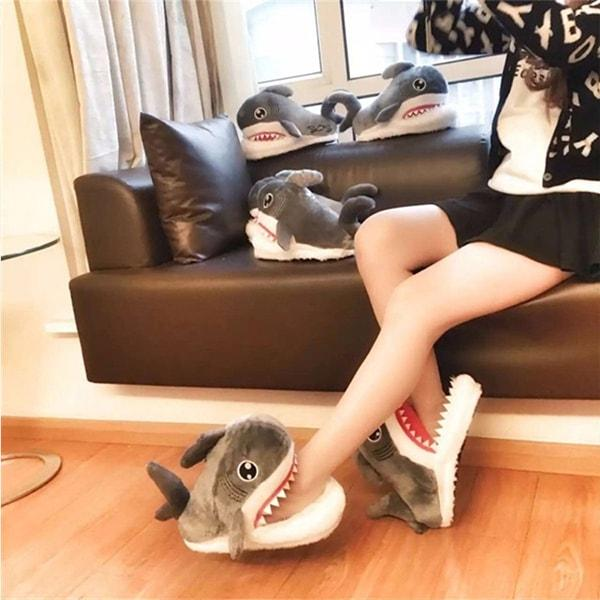 Shark Plush Slippers
