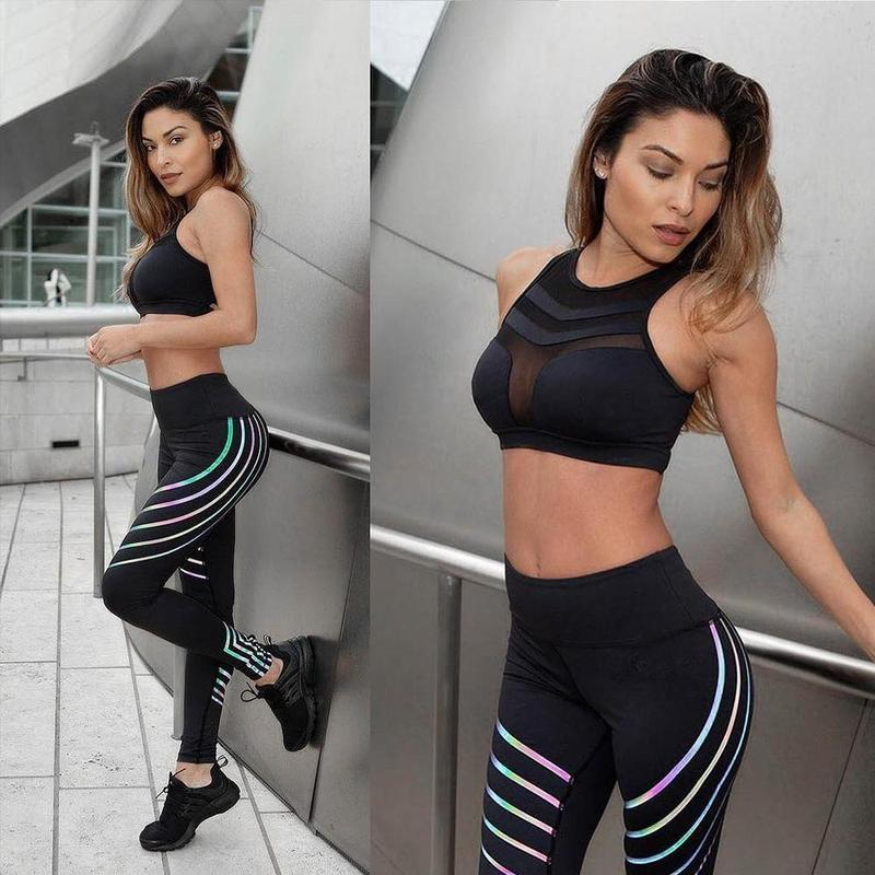 GLOWI RAINBOW REFLECTIVE LEGGINGS