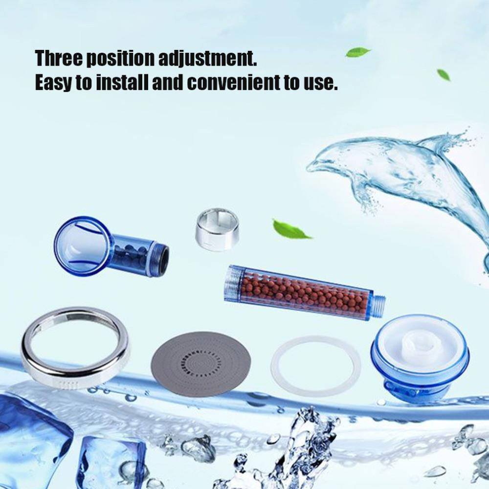 Spa Filtered Water Saving Adjustable Shower Head with Three Modes