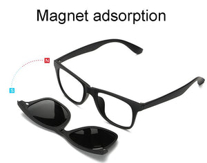5 in 1 Magnetic Swappable Sunglasses