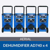 Bundle of 4x Aerial AD740 Dehumidifiers