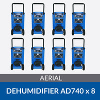 Bundle of 8x Aerial AD740 Dehumidifiers