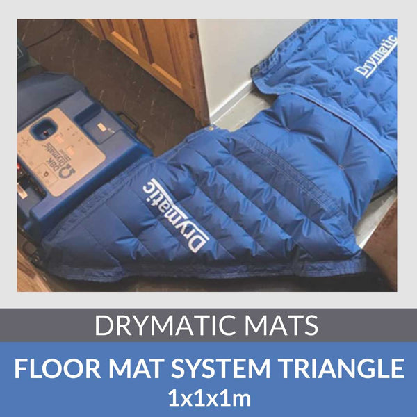Drymatic Triangle Floor Mat with holes 1m x 1m x 1m