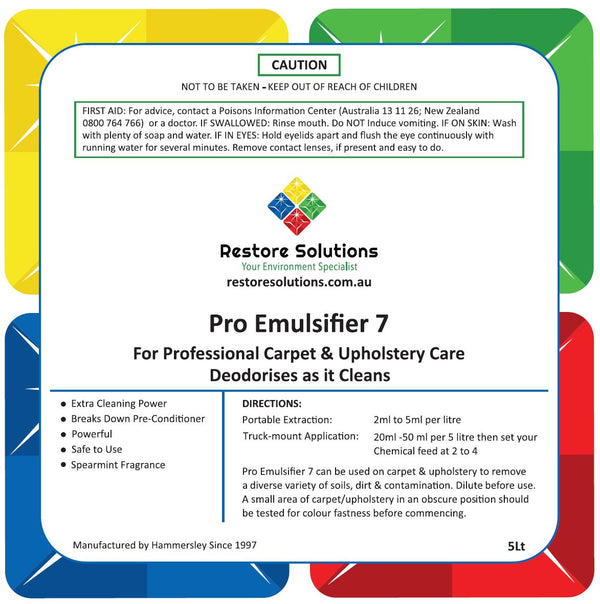 Pro Emulsifier 7 PH Neutral - 5 LITRE BOTTLE