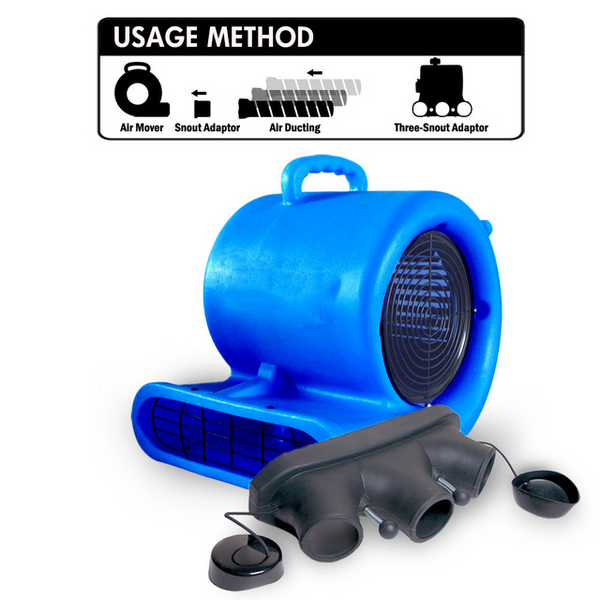 Restore Solutions Air Mover with black three snout adapter