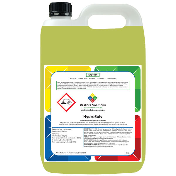 HydroSolv Degrease and Fire Cleaner - 5 litre bottle