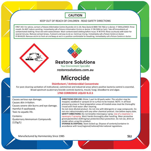 Microcide Anti-Microbial - 5 LITRE BOTTLE
