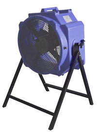 Axial Fan Stand with an axial fan attached.