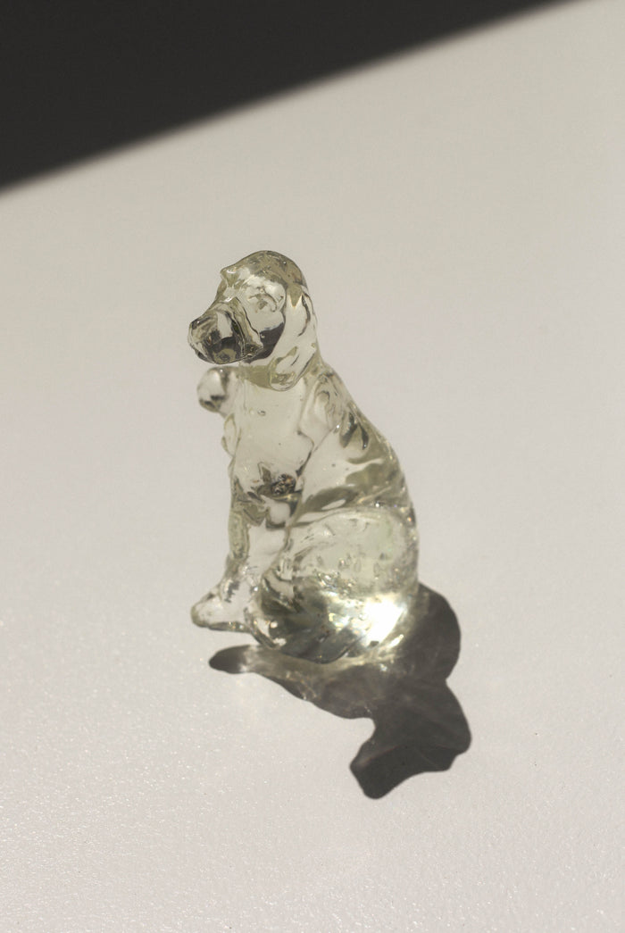 Hand Blown Glass Spaniel Pup