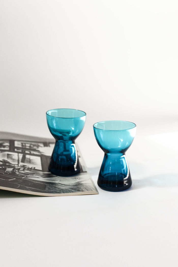 Turquoise Shot Glass Pair