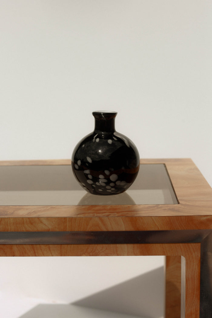 Black + Speckle Bud Vase
