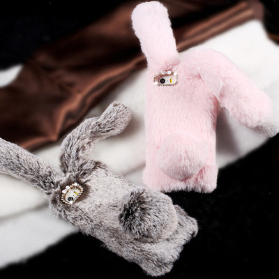 coque lapin fourrure Iphone