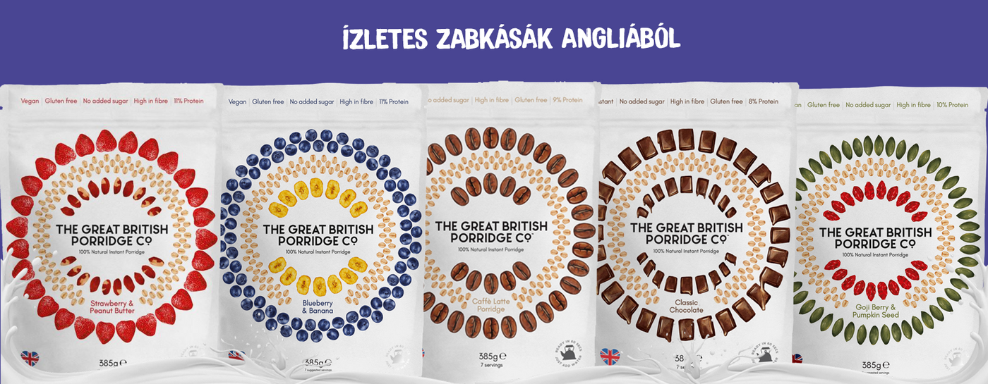 The Great Brittish Porridge vegán zabkásák
