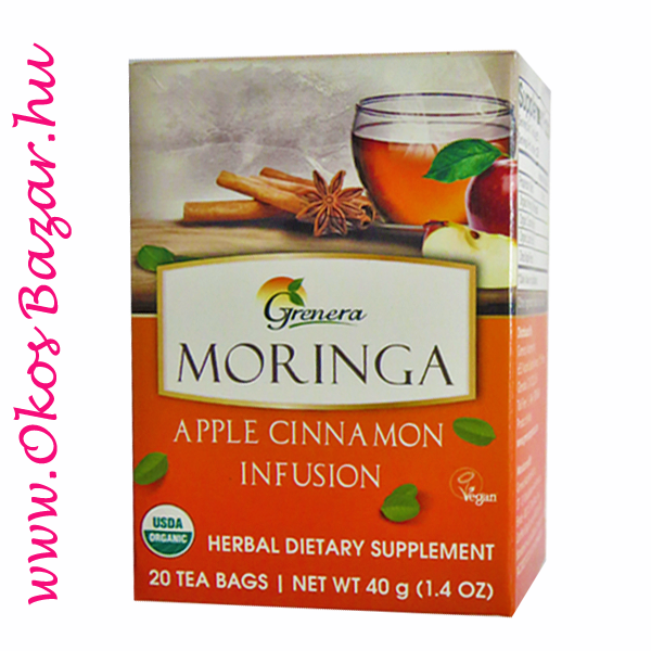 Grenera BIO Moringa tea Apple Cinnamon Infusion