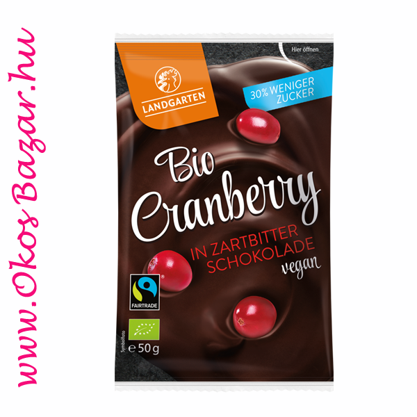 Landgarten BIO Cranberry in Dark Chocolate