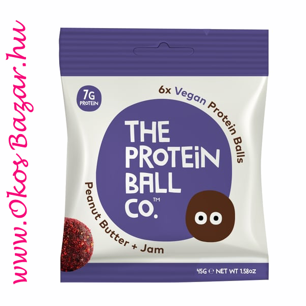 The Protein Ball Peanut Butter + Jam fehérje golyó
